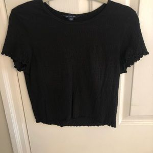 Ruched American eagle crop top, barely worn